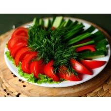 Овощная нарезка с зеленью 490 гр