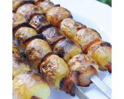 Картошка с салом на мангале 100гр