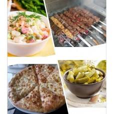 Новогодний Микс - шашлык, хачапури, нарезка (на 4 - 6 человек)
