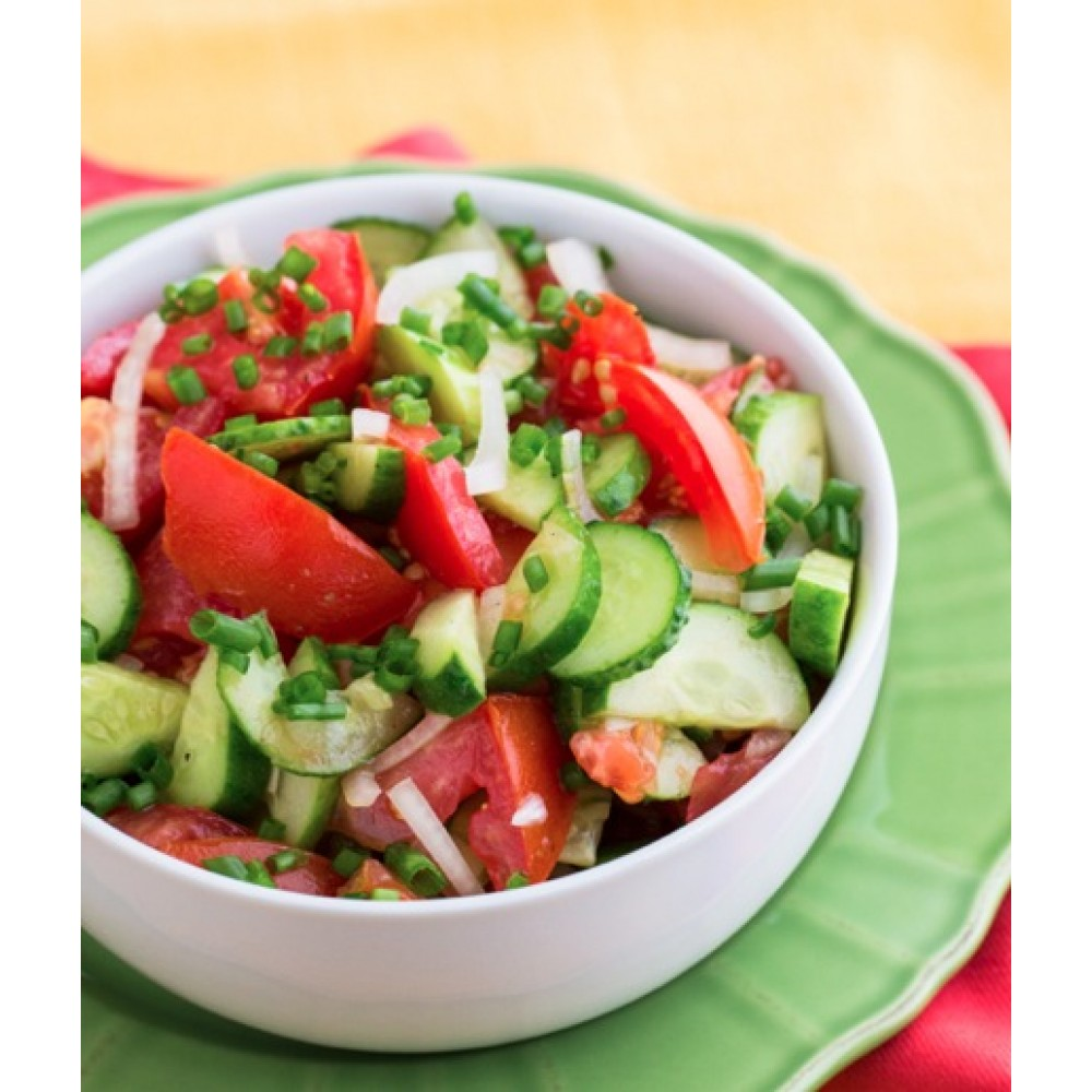 Овощной салат (огурцы, помидоры) 300 гр