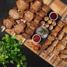 Микс шашлыка и вкусных блюд на День Рождения (для 10 человек)